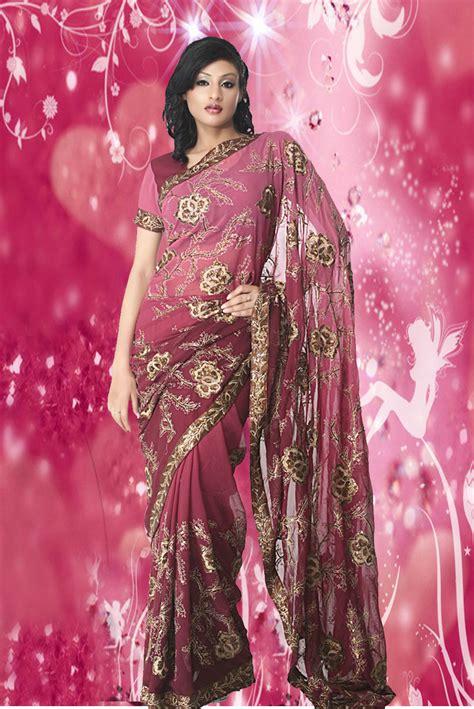 Home Desinger by Ladies Lifestyle Pink Colour Designer Sarees