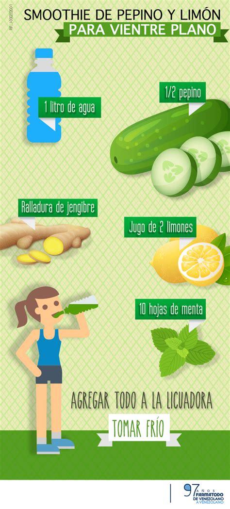 Ways To Detox From Junk Food by Smoothie De Pepino Y Lim 243 N Para Un Vientre Plano Healthy