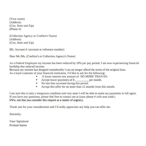 9 Financial Hardship Letter Templates Download For Free Sle Templates Financial Hardship Letter Template