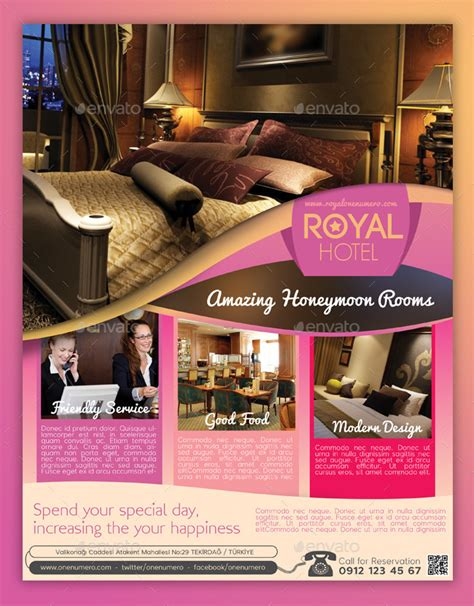 template flyer hotel royal hotel flyer template by graphicersan graphicriver