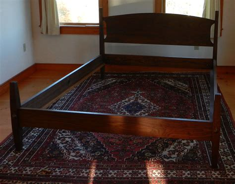 Handmade Platform Beds - custom made walnut hartford platform bed handmade in vermont