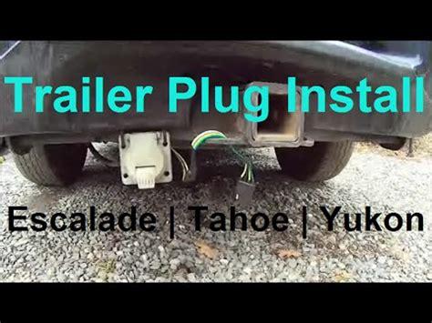 Trailer Plug Wiring   Escalade, Tahoe, Yukon   7 pin & 4