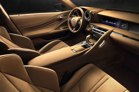 lexus lc interior lexus lc 500 unveiled with 10spd auto confirmed for