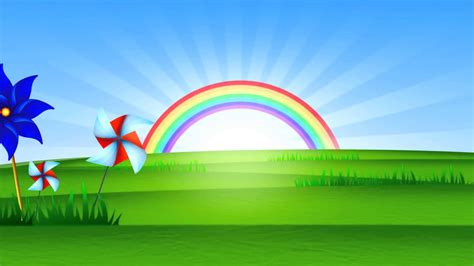 imagenes de arcoiris fondo animado paisaje arco iris full hd animate