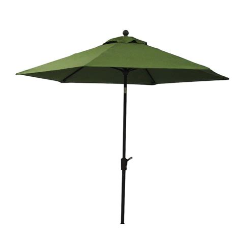 Patio Umbrella Extension Pole Hton Bay Carol 9 Ft Market Patio Umbrella In Cilantro Green With Extension Pole