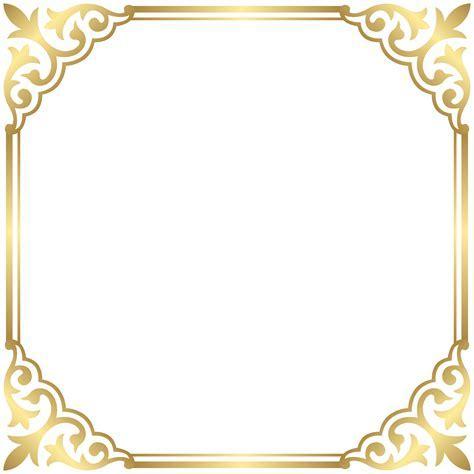 Gold Border Frame PNG Clip Art Image   Gallery