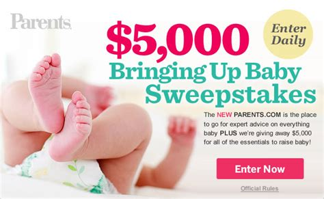 Parents Com Sweepstakes - parents magazine 5 000 bringing up baby sweepstakes quot deal quot ectable mommies