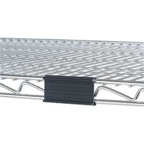 Wire Shelf Label Holders by Wire Shelving Accessories Components Black Label