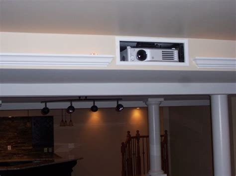 projector   home theater room   basement house