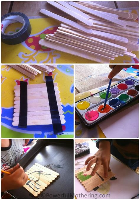 arts and crafts with popsicle sticks for crafts puzzles