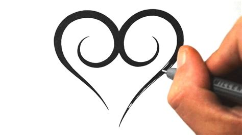 free download draw simple tribal heart
