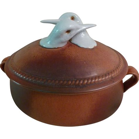 vintage oven king rusticana italy bird casserole from happyhoundantiques on ruby lane
