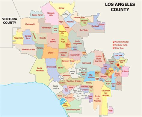 map of los angeles county los angeles real estate market and trends