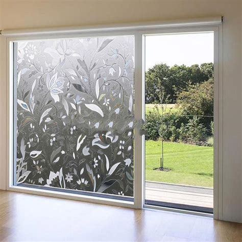 Decorative Glass Windows by Clear Flower 3d Decorative Glass Window Door Vinyl Static
