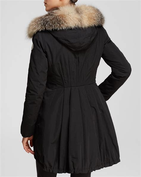 Fur Trim by Moncler Arriette Anorak With Fur Trim In Black Lyst
