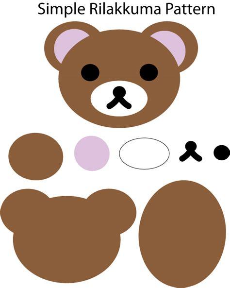 simple teddy bear pattern by azaleapoena on deviantart simple rilakkuma pattern by mokulen22 on deviantart