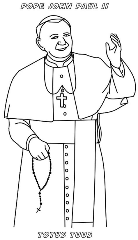 pope hat coloring page 17 best images about pope john paul ii on pinterest st
