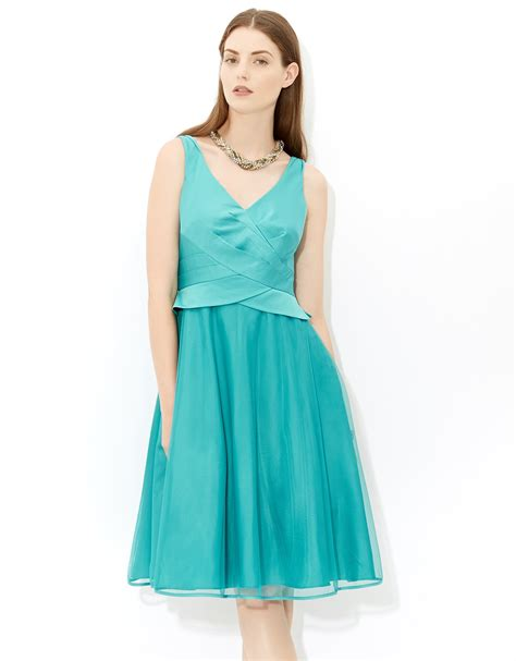 Dress Vonie Blue bonnie tulle dress in blue teal wedding dress from monsoon bridesmaid hitched co uk