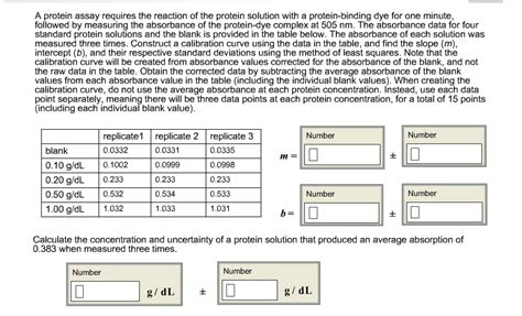 u protein concentration a protein assay requires the reaction of the prote