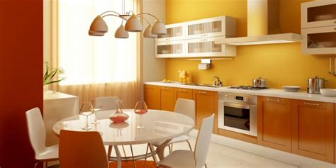 orange and yellow kitchen interior paint color combinations slideshow