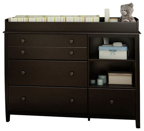 South Shore Andover Changing Table South Shore Smiley Changing Table Espresso Transitional Changing Tables By Cymax