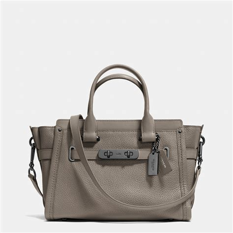 Coach Swagger Mini Colour Varian lyst coach swagger 27 in pebble leather in gray