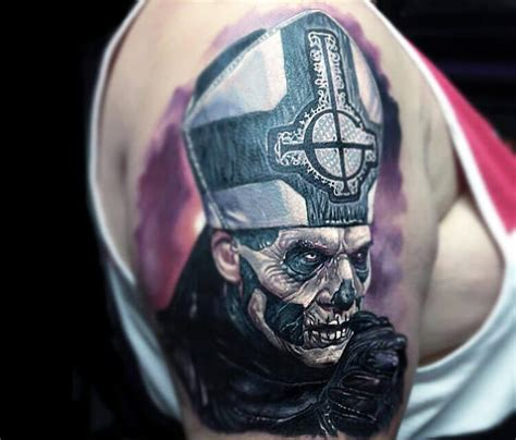 the band ghost tattoo by paul acker no 8
