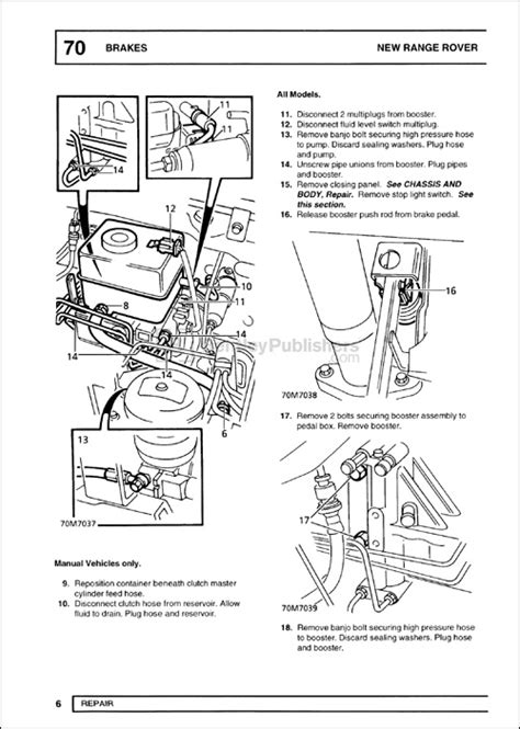 online auto repair manual 1996 land rover range rover electronic throttle control excerpt range rover range rover repair manual 1995 2001 bentley publishers repair