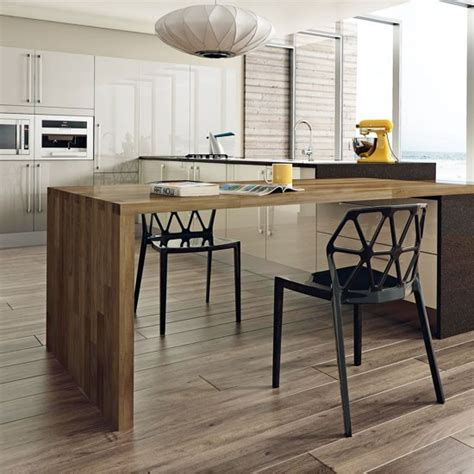 Modern Kitchen With Island Table Contemporary Kitchen Kitchen Island Table Ideas