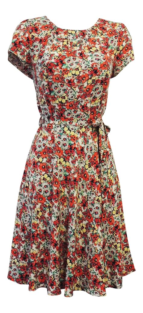 Vintage Floral Tea Dresses From Dorothy by New Vintage Nostalgia 1930 S 1940 S Ww2 Style Wartime