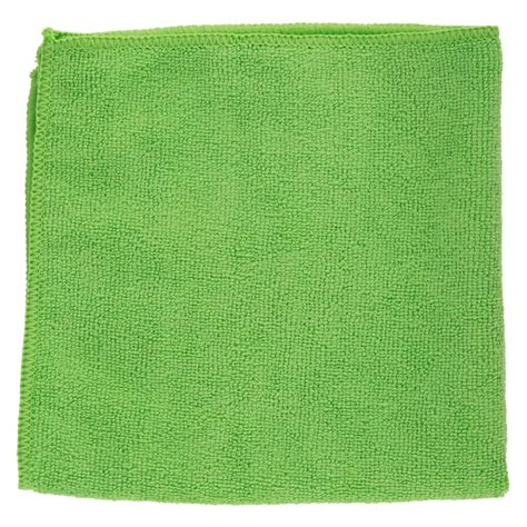 16 quot x 16 quot green microfiber cleaning cloth 12 pack