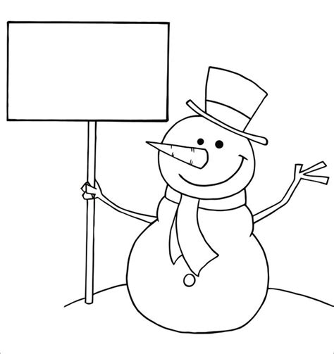 Snowman Template Snowman Crafts Free Premium Templates Coloring Page Template
