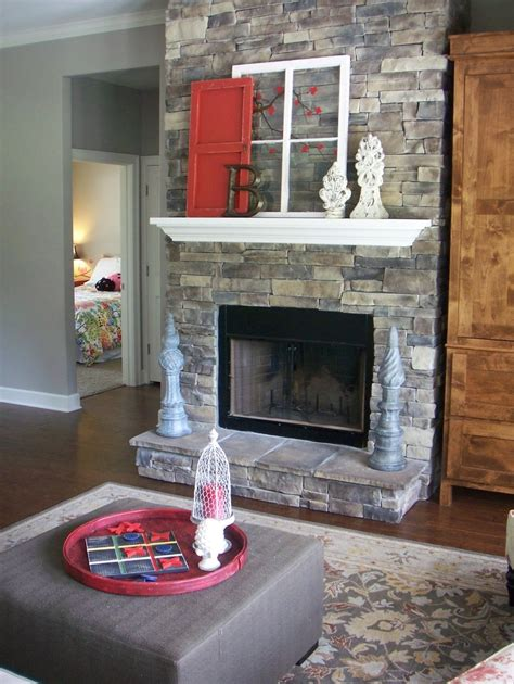 shabby chic fireplace home decor pinterest