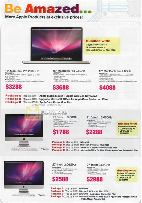 Macbook Pro Di Singapore apple juzz1 macbook pro imac it show 2010 price list brochure flyer image