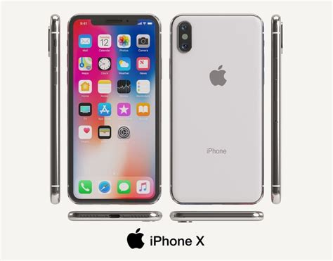 apple iphone x 3d model apple cgtrader