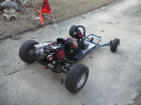 Handmade Go Kart - go kart gets a new custom front end test walk