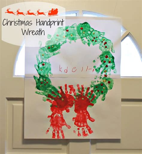 christmas handprint wreath craft