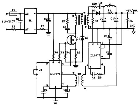 12v 10a battery charger circuit diagram 5v 10a 50w offline switching power supply power supply