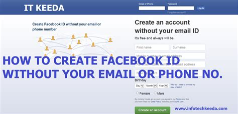 email without phone create facebook id without your email or phone number