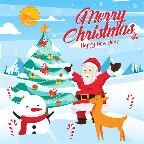 clipart di natale gratis illustrazione della carta celebrazione di buon natale