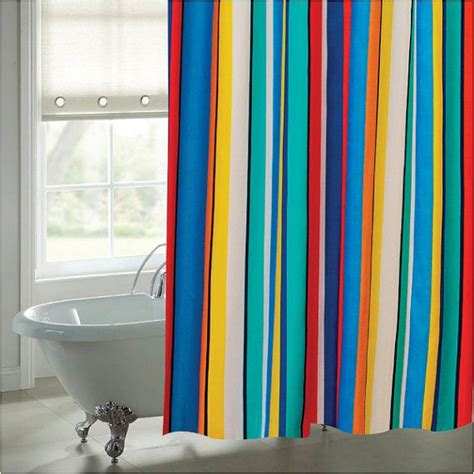 funky shower curtain funky bright striped shower curtain