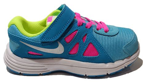 nike trainers shoes sports velcro blue