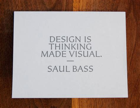 Design Is Thinking Made Visual Saul Bass | mike houghton refresh tallahassee