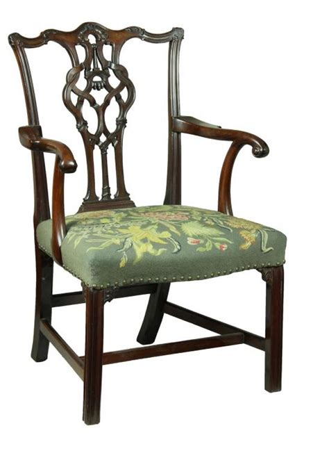 chippendale chair st swc chippendale armchair with elaborate splat icicle