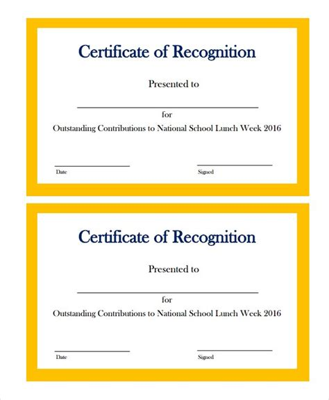 certificate of recognition template 20 certificate of recognition templates free sle