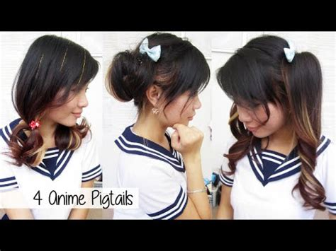 names of anime inspired hair styles cute anime pigtails youtube