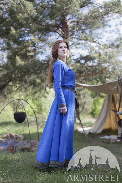 viking linen dress ingrid  hearthkeeper