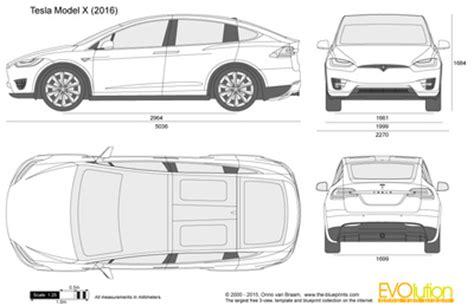 Tesla Dimensions The Blueprints Vector Drawing Tesla Model X