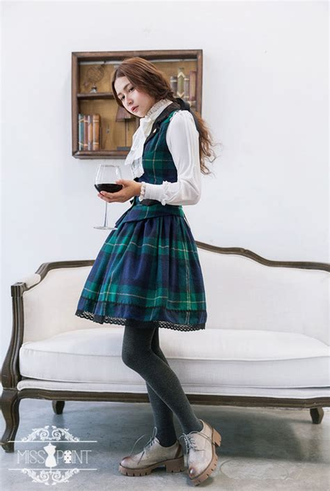 Gray Leaves Set S M L Top Skirt 30352 cheap earl grey tea woolen gingham miss point vest and skirt set sale at dresses