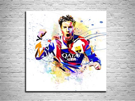 Football Artwork Messi 1 canvas print soccer sports illustration lionel messi